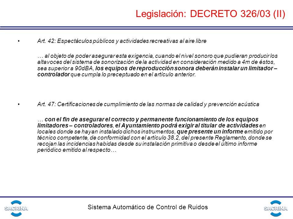 Legislación: DECRETO 326/03 (II)