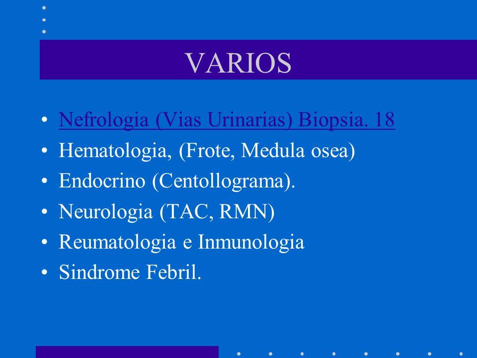 VARIOS Nefrologia (Vias Urinarias) Biopsia. 18