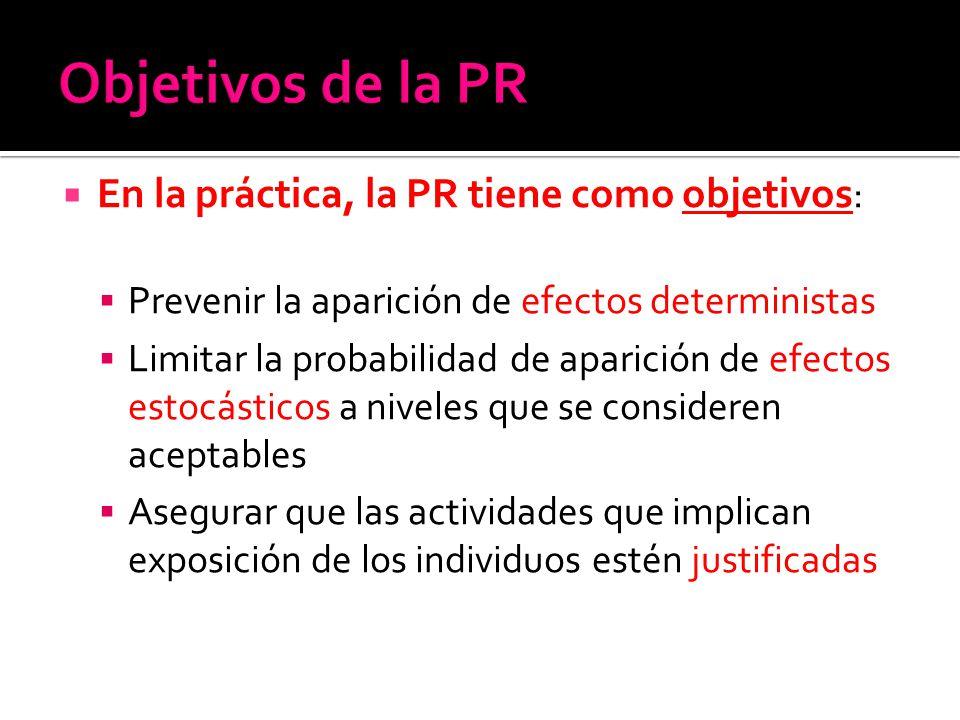 Objetivos de la PR En la práctica, la PR tiene como objetivos: