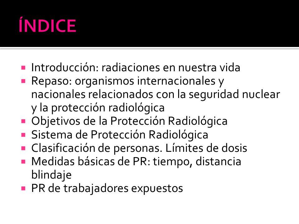 ÍNDICE Introducción: radiaciones en nuestra vida