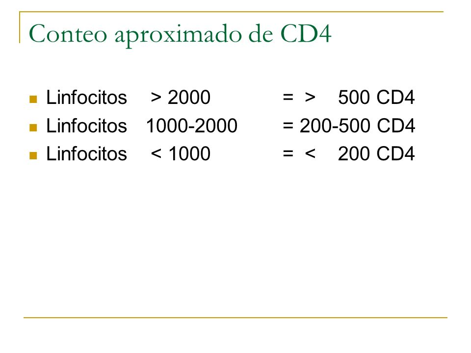 Conteo aproximado de CD4