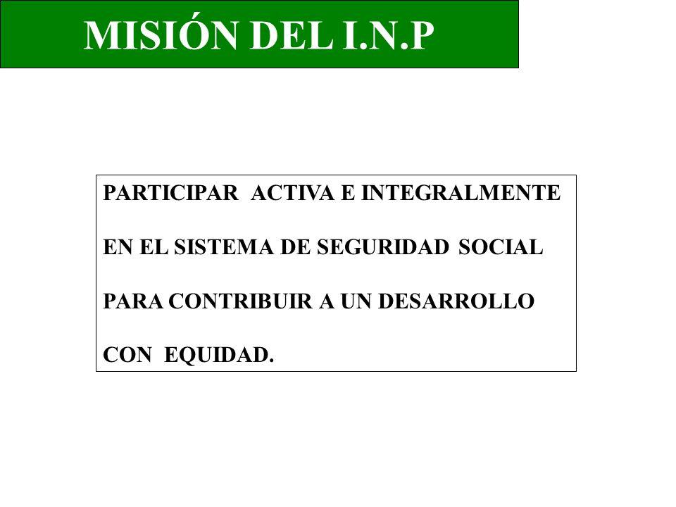 MISIÓN DEL I.N.P PARTICIPAR ACTIVA E INTEGRALMENTE