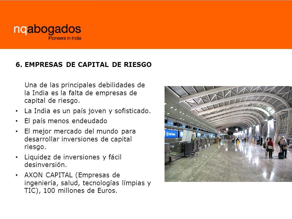 6. EMPRESAS DE CAPITAL DE RIESGO