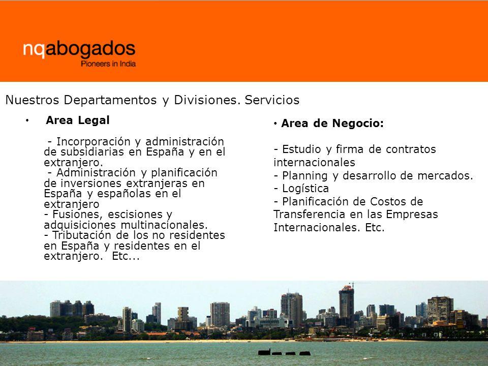 Nuestros Departamentos y Divisiones. Servicios
