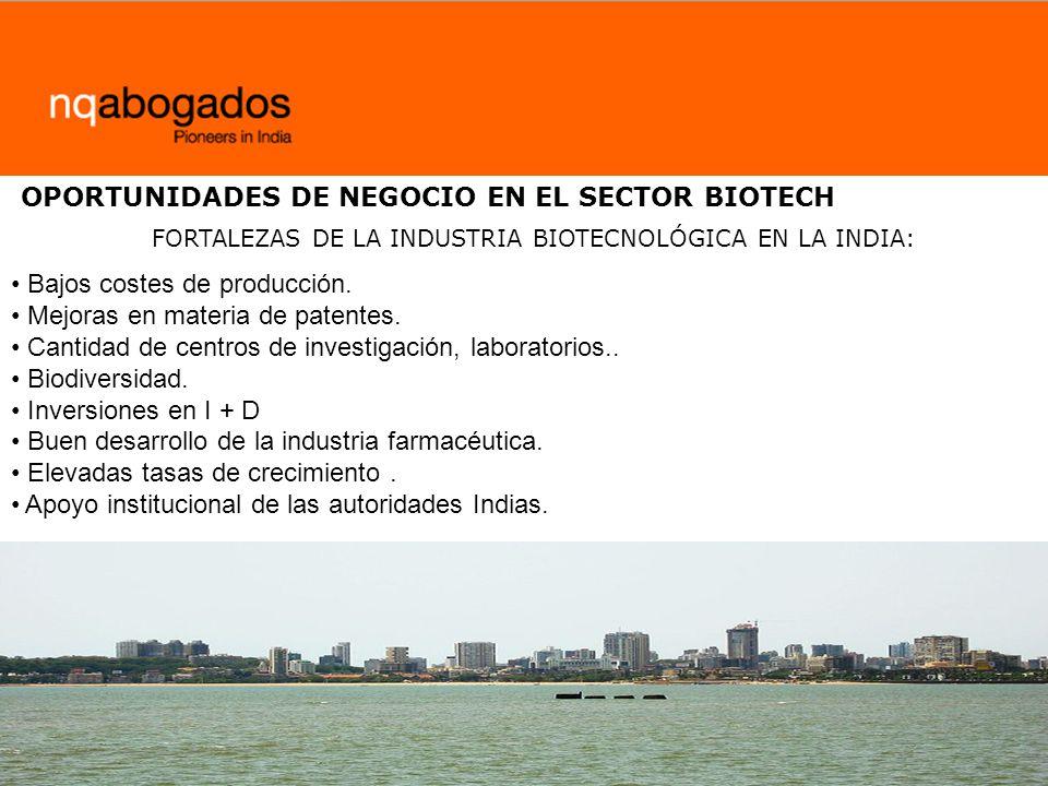 OPORTUNIDADES DE NEGOCIO EN EL SECTOR BIOTECH