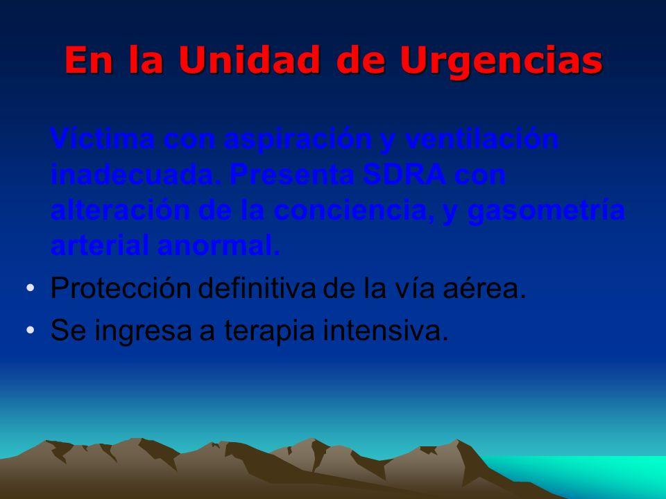 En la Unidad de Urgencias