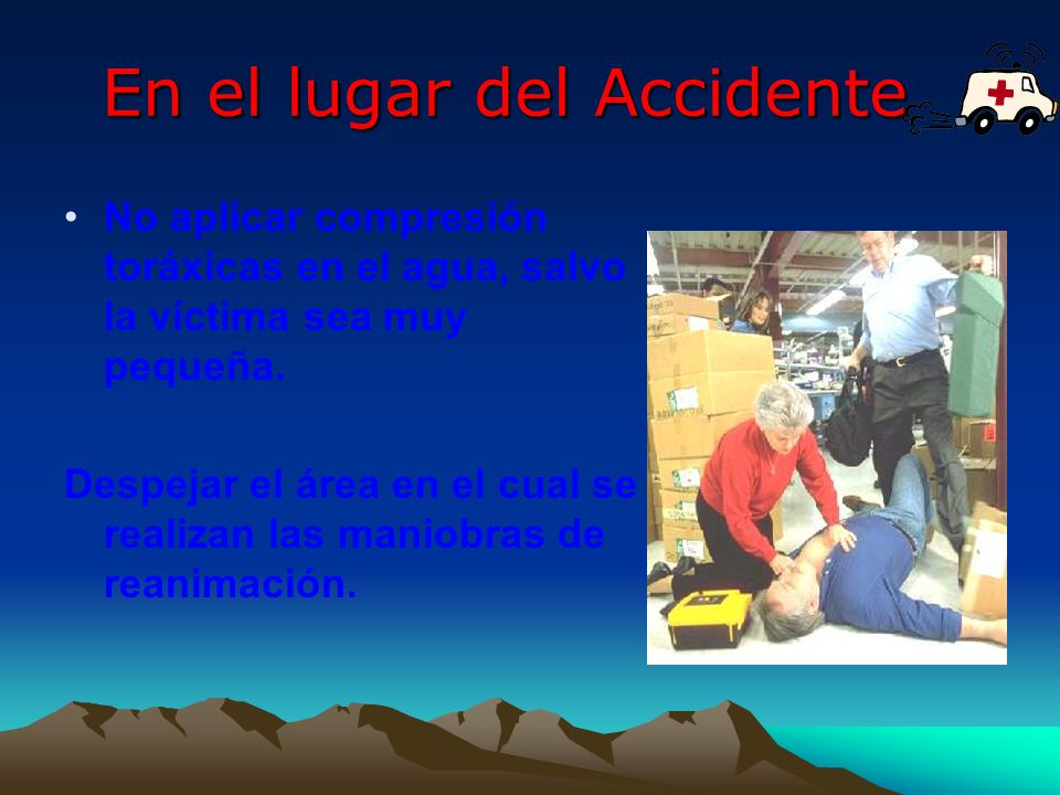 En el lugar del Accidente