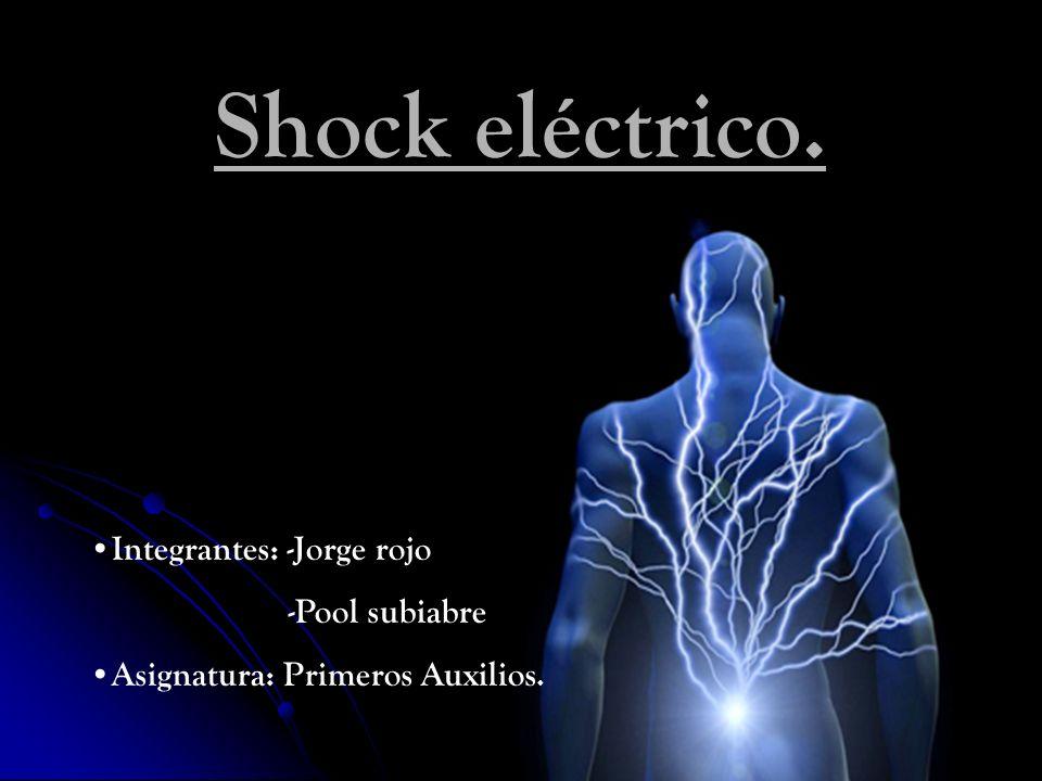 Shock eléctrico. Integrantes: -Jorge rojo -Pool subiabre