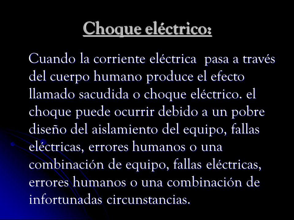 Choque eléctrico: