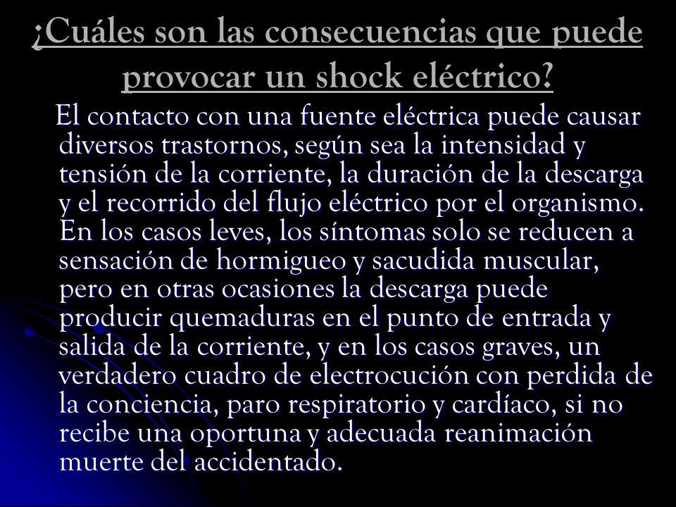 ¿Cuáles son las consecuencias que puede provocar un shock eléctrico