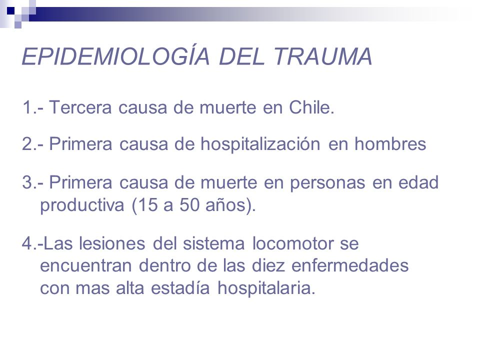 EPIDEMIOLOGÍA DEL TRAUMA