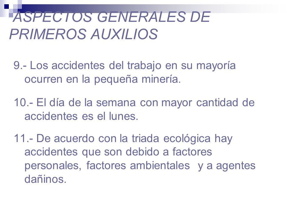 ASPECTOS GENERALES DE PRIMEROS AUXILIOS