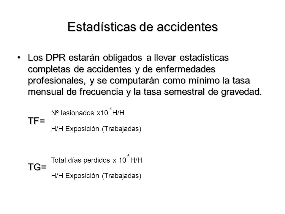 Estadísticas de accidentes