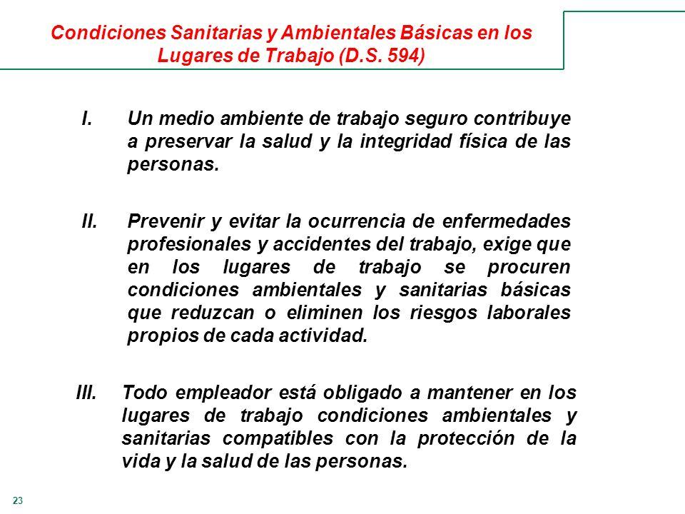 Condiciones Sanitarias y Ambientales Básicas en los Lugares de Trabajo (D.S. 594)