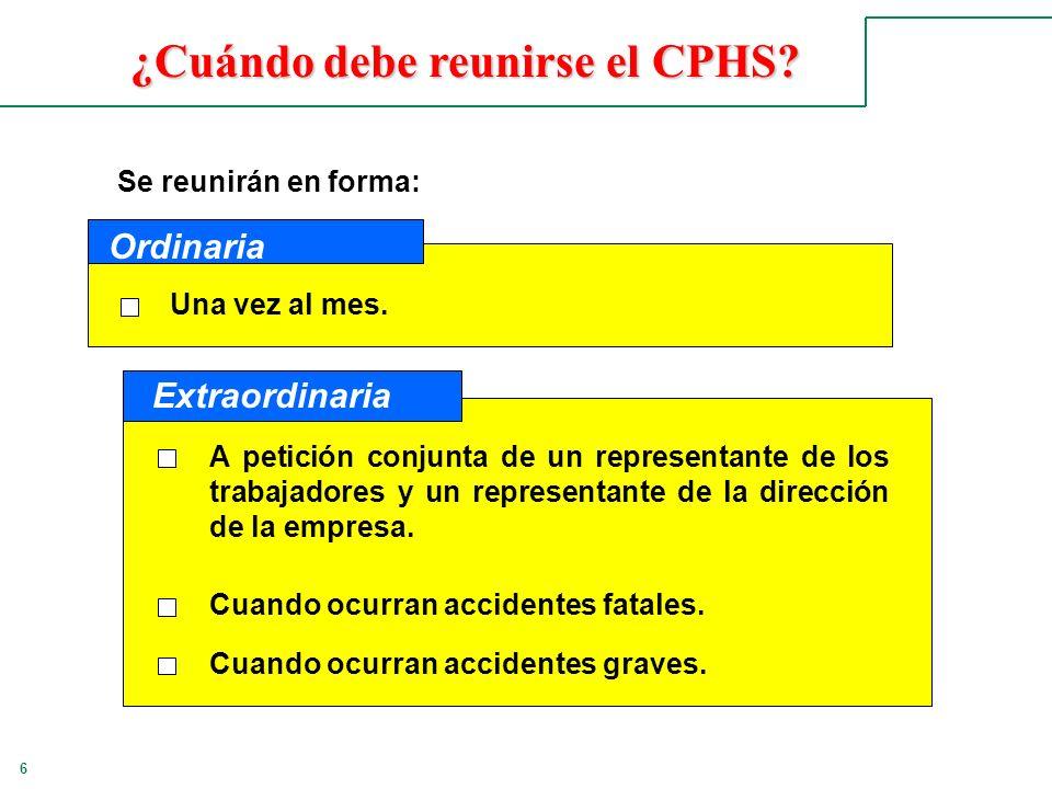 ¿Cuándo debe reunirse el CPHS