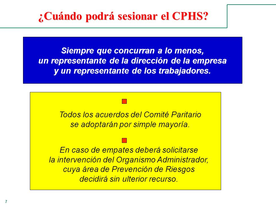 ¿Cuándo podrá sesionar el CPHS