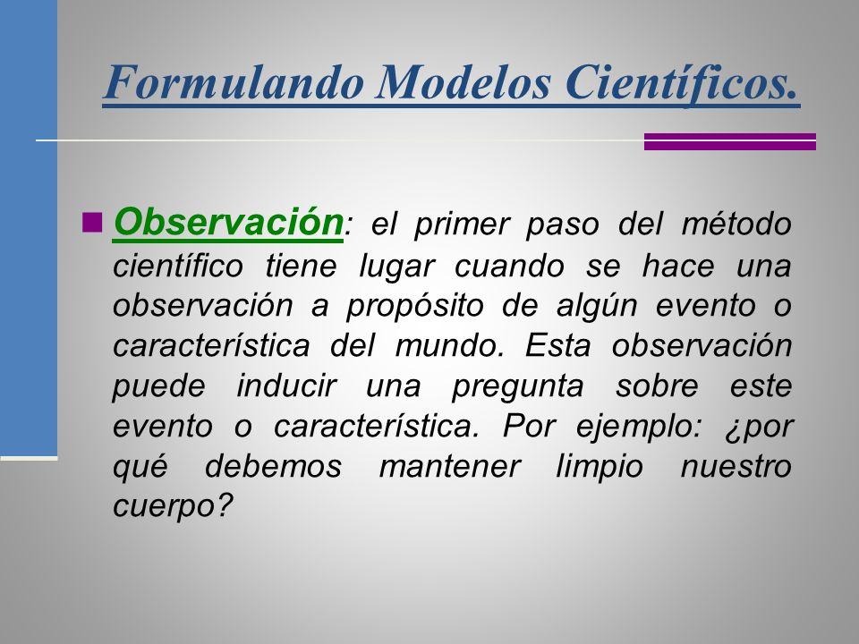 Formulando Modelos Científicos.