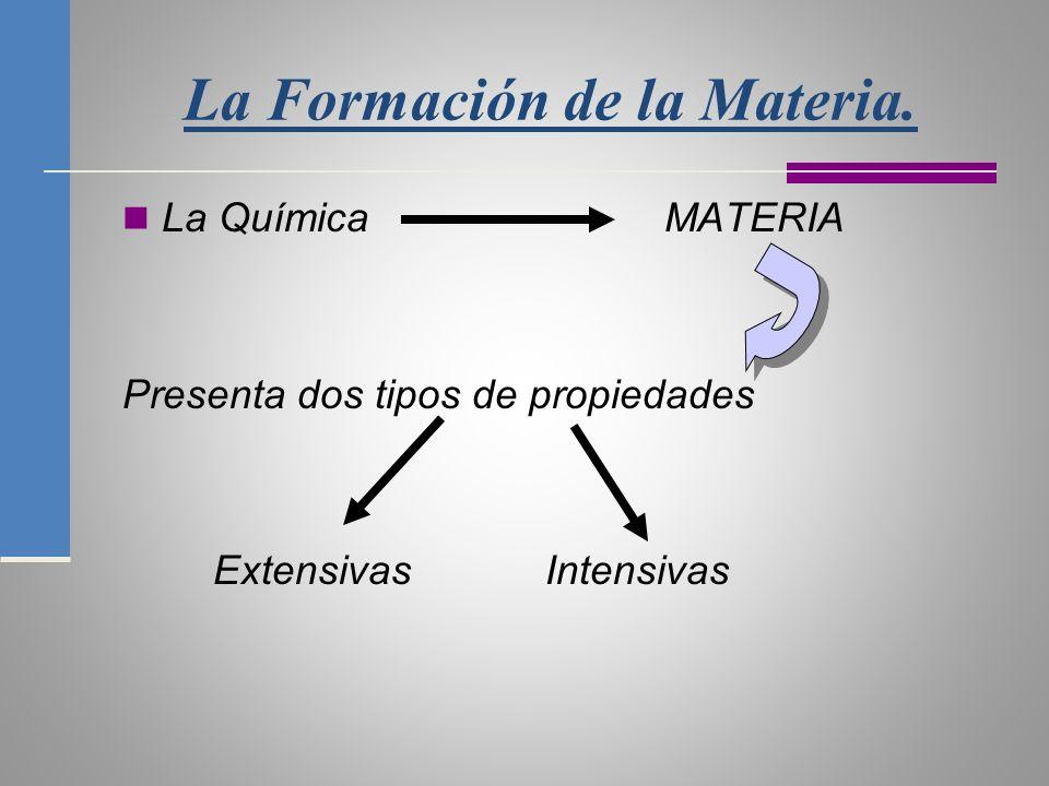 La Formación de la Materia.