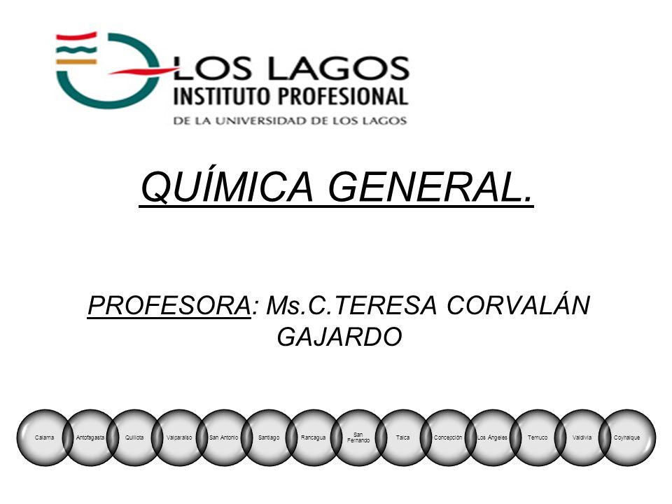 PROFESORA: Ms.C.TERESA CORVALÁN GAJARDO