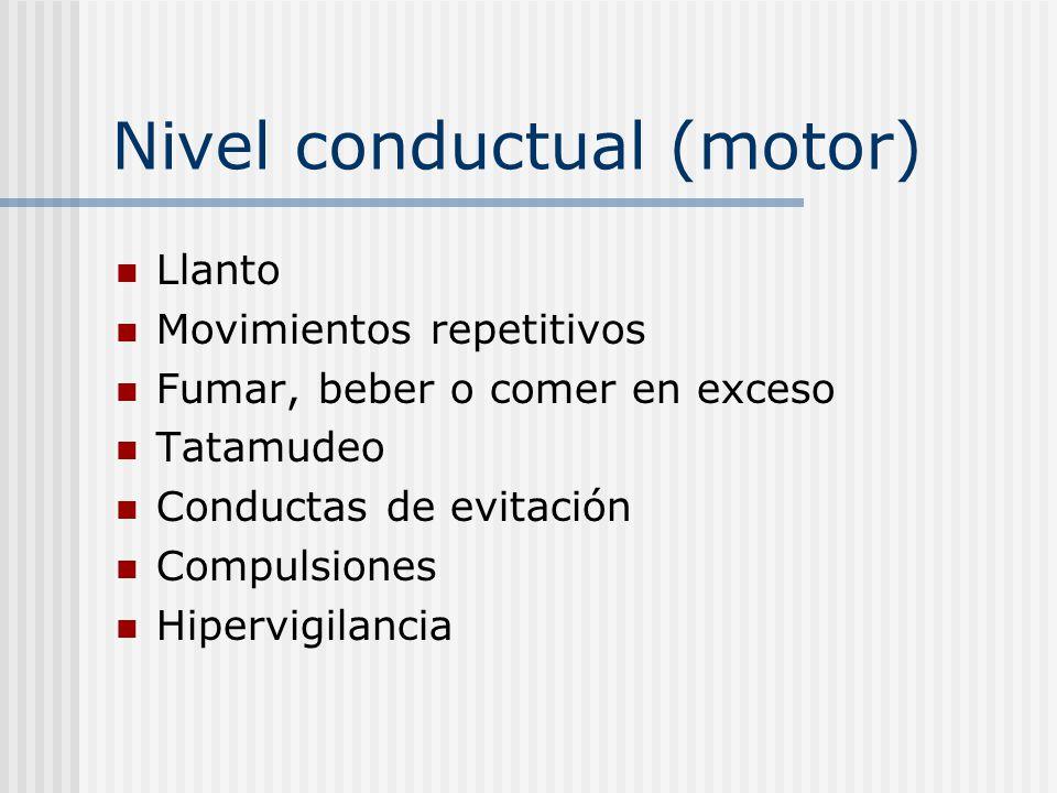 Nivel conductual (motor)