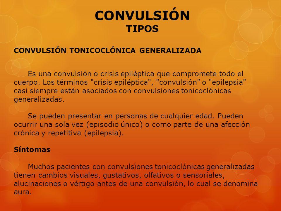CONVULSIÓN TIPOS