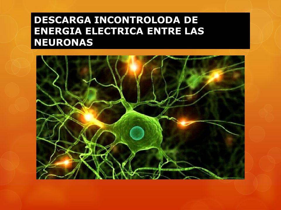 DESCARGA INCONTROLODA DE ENERGIA ELECTRICA ENTRE LAS NEURONAS