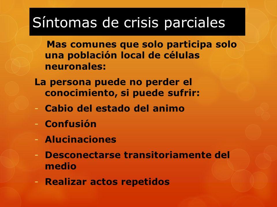 Síntomas de crisis parciales