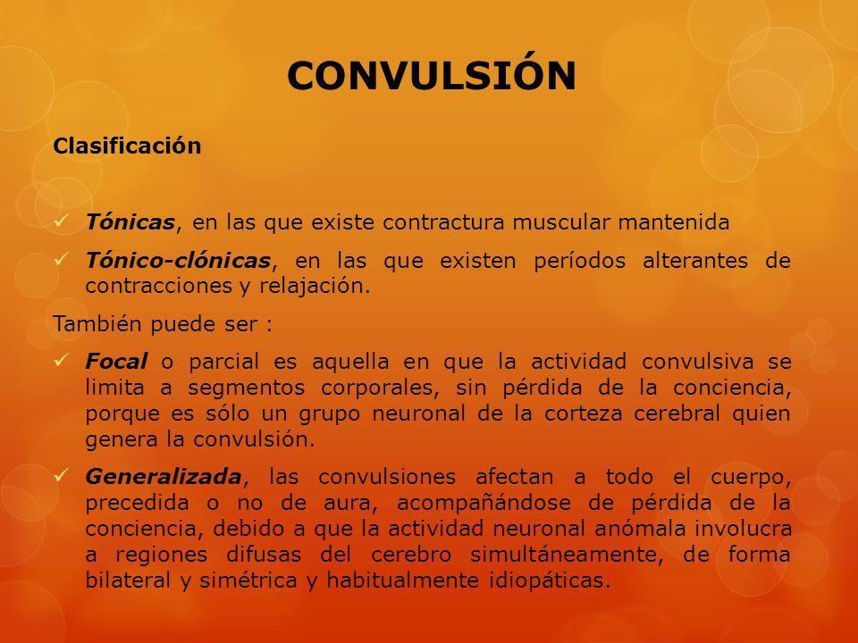 CONVULSIÓN Clasificación
