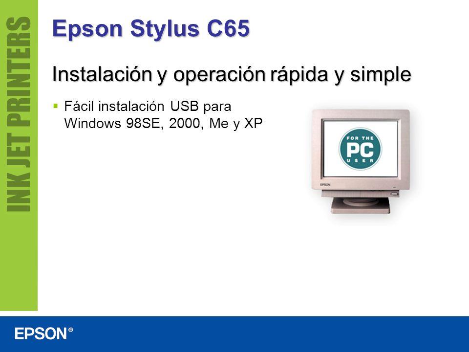 Epson Stylus C65 Instalación y operación rápida y simple