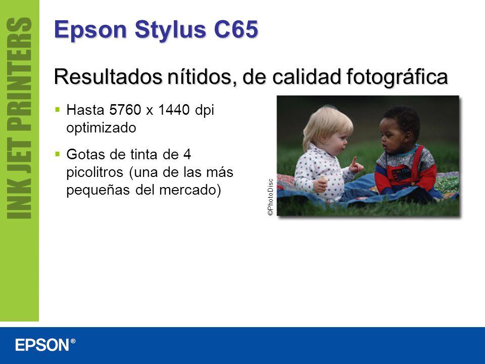Epson Stylus C65 Resultados nítidos, de calidad fotográfica