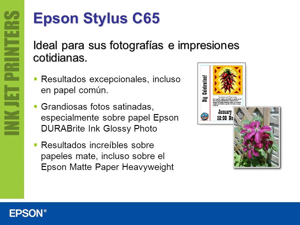 Epson Stylus C65 Ideal para sus fotografías e impresiones cotidianas.