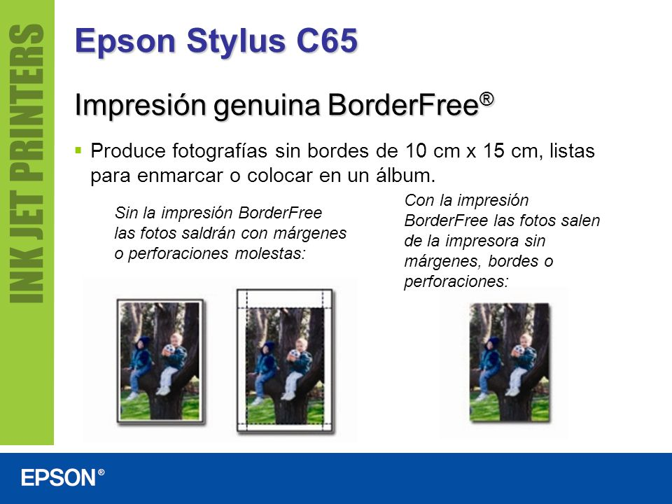 Epson Stylus C65 Impresión genuina BorderFree®
