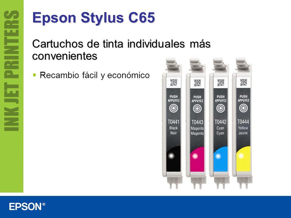 Epson Stylus C65 Cartuchos de tinta individuales más convenientes