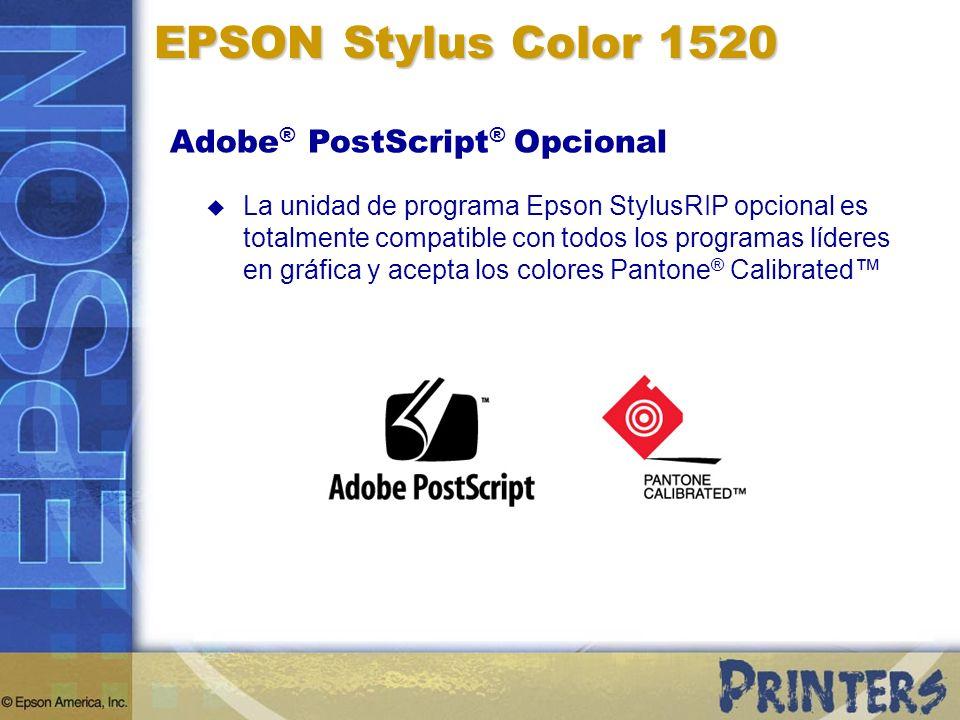 EPSON Stylus Color 1520 Adobe® PostScript® Opcional