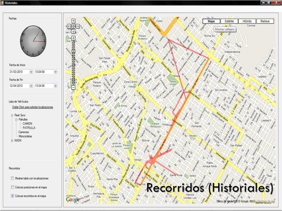 Recorridos (Historiales)