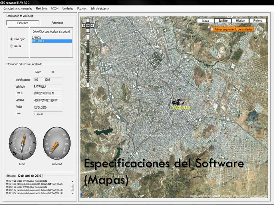 Especificaciones del Software (Mapas)