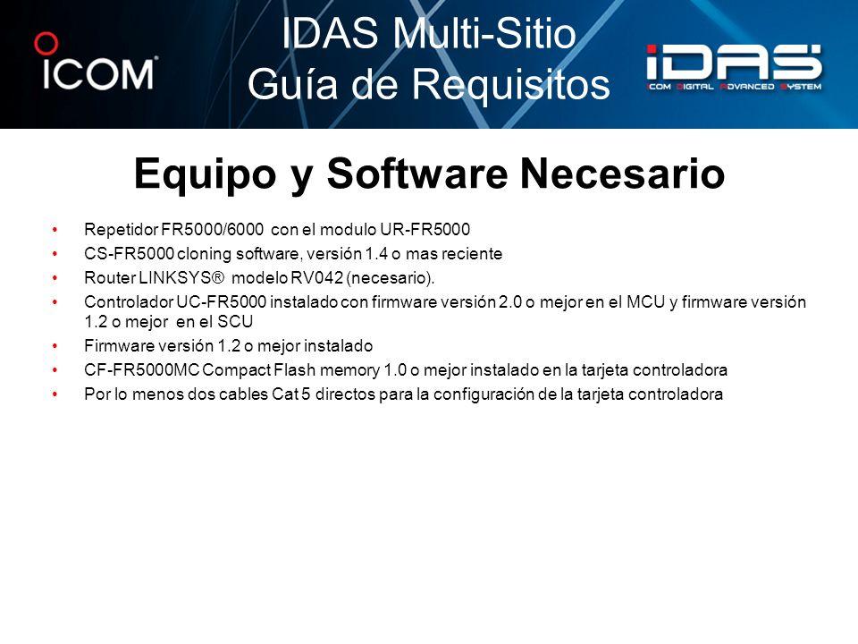 Equipo y Software Necesario