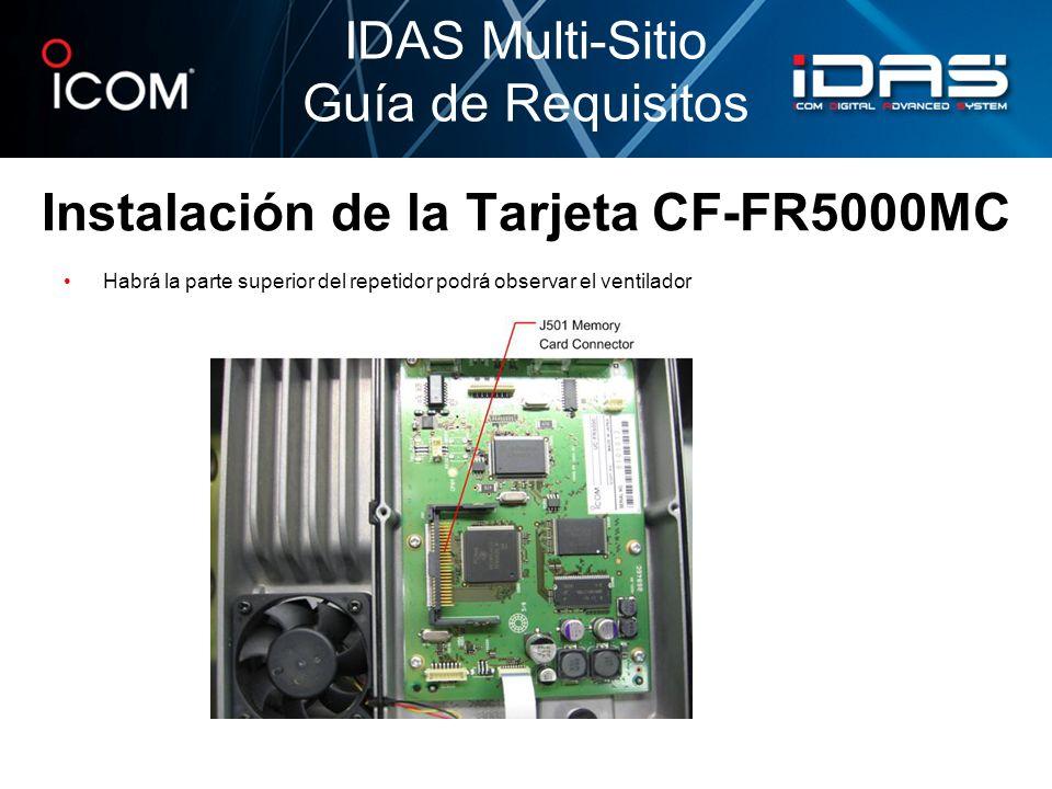 Instalación de la Tarjeta CF-FR5000MC