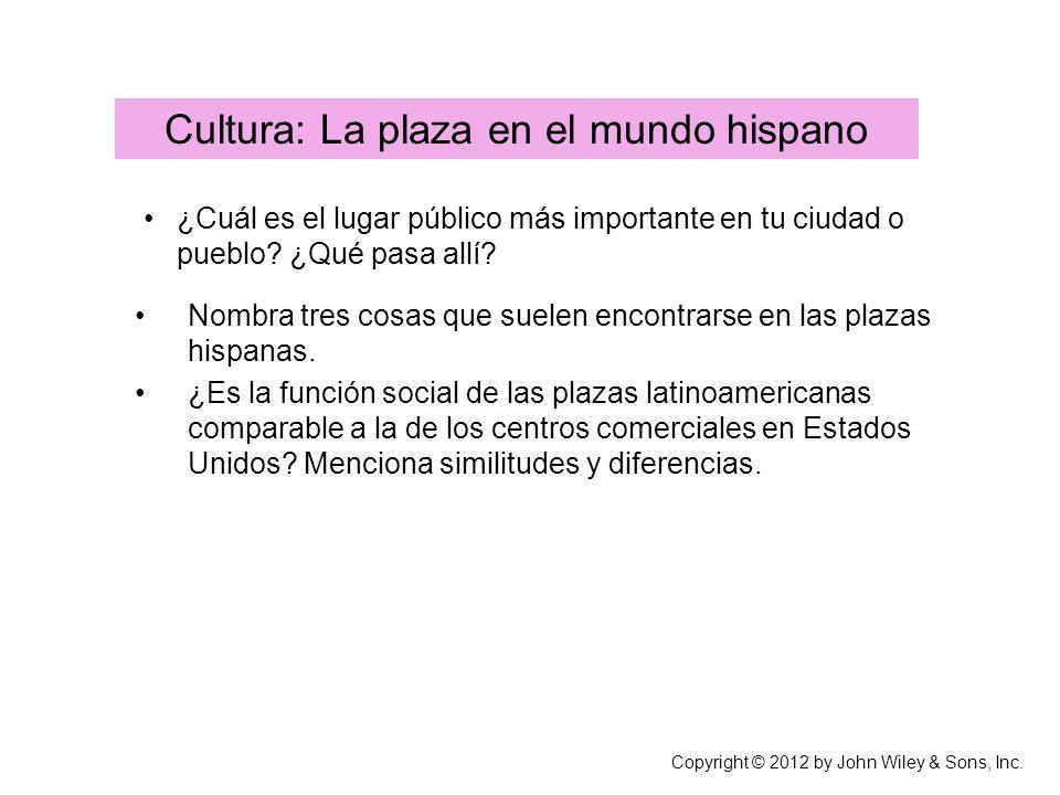 Cultura: La plaza en el mundo hispano