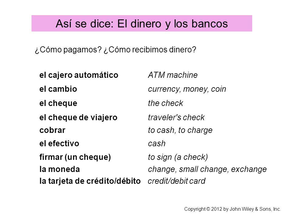 Así se dice: El dinero y los bancos
