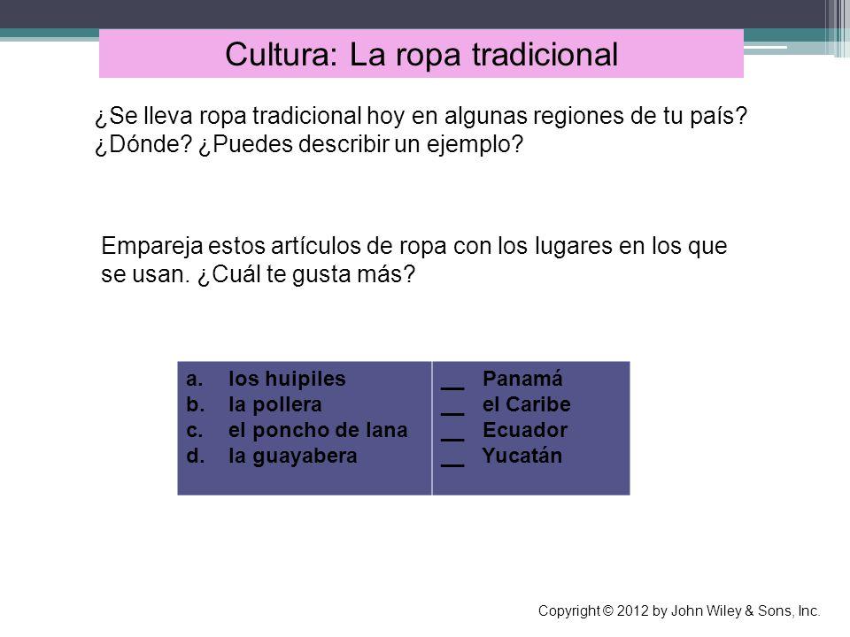 Cultura: La ropa tradicional