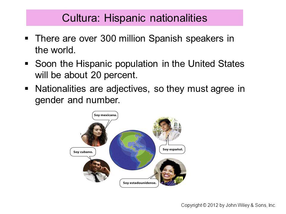 Cultura: Hispanic nationalities