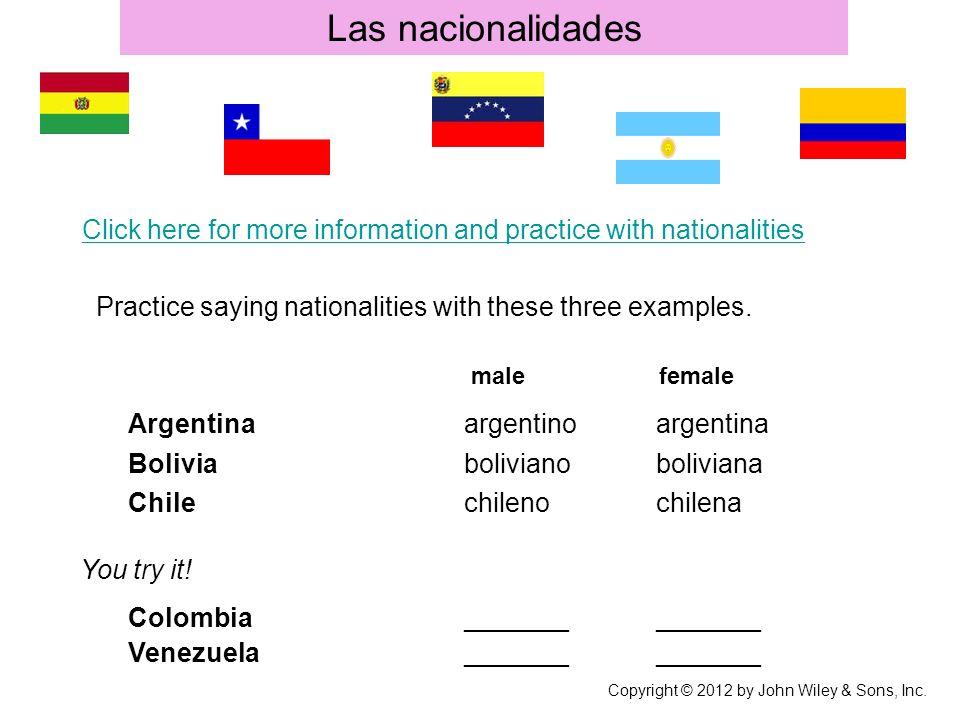 Las nacionalidades Argentina argentino argentina