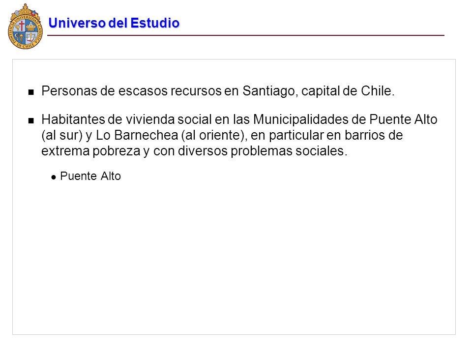 Personas de escasos recursos en Santiago, capital de Chile.