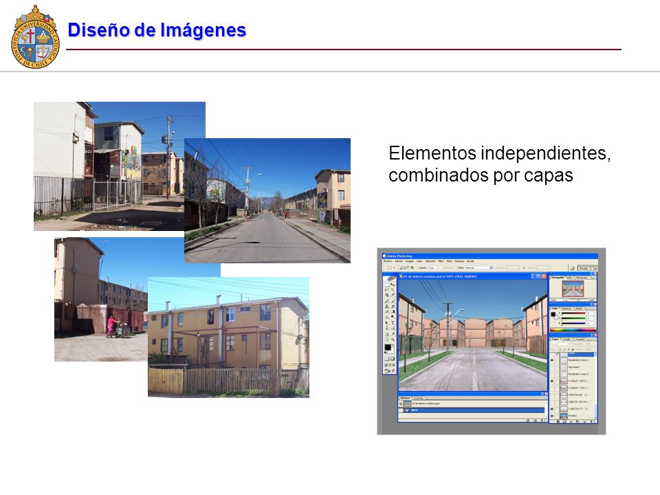 Diseño de Imágenes Elementos independientes, combinados por capas