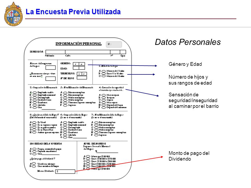 Datos Personales La Encuesta Previa Utilizada Género y Edad