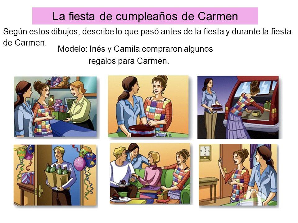 La fiesta de cumpleaños de Carmen