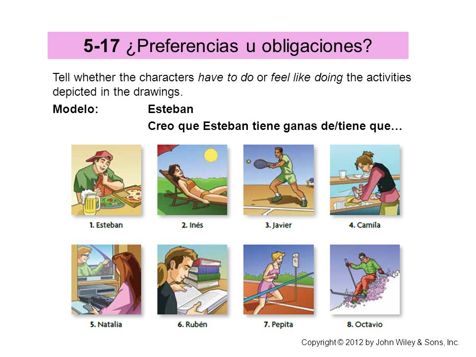 5-17 ¿Preferencias u obligaciones
