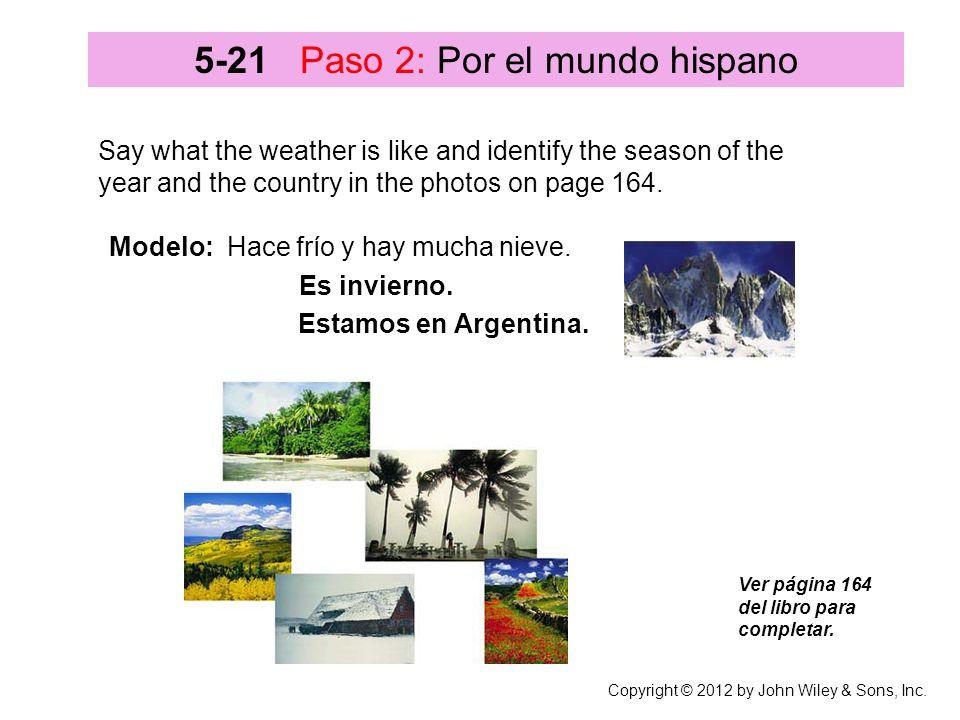 5-21 Paso 2: Por el mundo hispano