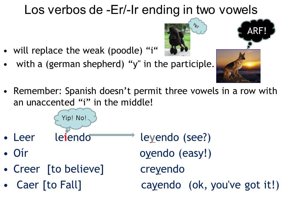Los verbos de -Er/-Ir ending in two vowels